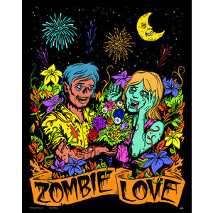 Stuff To Color . SFC 16x20 Velvet Zombie Love