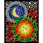 Stuff To Color . SFC 16X20 Velvet Poster Sun Moon Nature Art Calgary