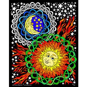 Stuff To Color . SFC 16X20 VELVET POSTER SUN MOON