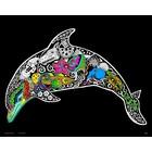 Stuff To Color . SFC 16X20 Velvet Poster Inner Nature Dolphin Calgary Animals