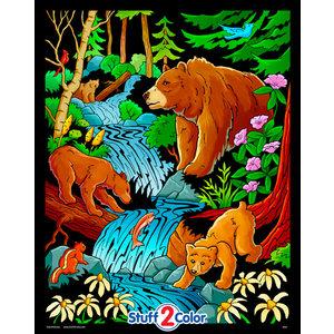 Stuff To Color . SFC 16x20 Velvet Bears