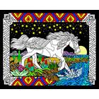 Stuff To Color . SFC 16 x 20 Velvet Midnight Bronco Colorful Calgary Animals Nature
