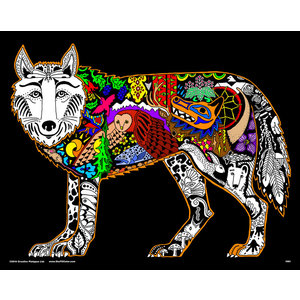 Stuff To Color . SFC 16X20 VELVET POSTER INNER NATURE WOLF