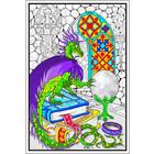 Stuff To Color . SFC 22 x 32.5 Wall Poster Dragon Crystal Ball