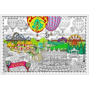 Stuff To Color . SFC 22X32.5 Wall Poster Ballon Festival