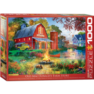 Eurographics Puzzles . EGP Campfire by the Barn Davison – 1000pc Puzzle
