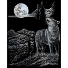 "Royal (art supplies) . ROY Wolf Moon - Silver Foil Engraving Art Kit 8""X10"" Nature Animals Calgary"