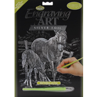 """Royal (art supplies) . ROY Mare & Foal Silver Foil Engraving Art Kit 8""""X10"""" Nature Animals Calgary"""