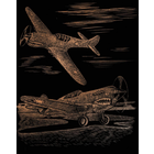 """Royal (art supplies) . ROY WWII Fighter Copper Foil Engraving Art Kit 8""""X10"""""""