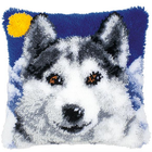 Vervaco . VVC Wolf - Vervaco Cushion Latch Hook Kit Animals Nature Calgary