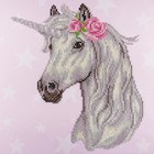 "Leisure Arts . LSA Flower Unicorn Diamond Art 12"" X 12"""