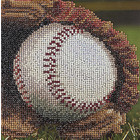 "Leisure Arts . LSA Baseball - Diamond Art 10"" X 10"""