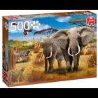 Jumbo Puzzles & Accs . JUM African Savannah 500 pc Puzzle
