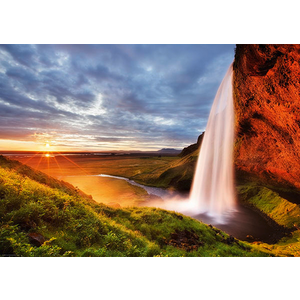 Heye Puzzles. HEY Seljalandsfoss Waterfall 1000 pc puzzle