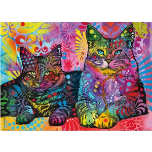 Heye Puzzles. HEY Devoted 2 Cats, Jolly Pets 1000 pc Puzzle