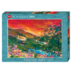 Heye Puzzles. HEY Washing Line, Felted Art 1000 pc Puzzle