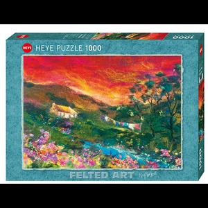 Heye Puzzles. HEY Washing Line, Felted Art 1000 pc Puzzle