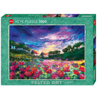 Heye Puzzles. HEY Sundown Poppies, Felted Art 1000 pc puzzle