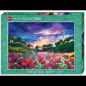 Heye Puzzles. HEY Sundown Poppies, Felted Art 1000 pc puzzle