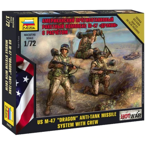 Zvezda Models . ZVE 1/72 US DRAGON ANTI-TANK