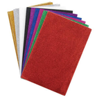"Darice . DAR Glitter Sticky Back Foam Sheets 6""X9"" 12/Pkg Assorted Colors"