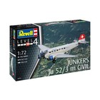 Revell of Germany . RVL 1/72 Junkers Ju 52/3M Civil