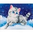 Leisure Arts . LSA Diamond Art - Kitten Nature Animals Pet Winter Calgary