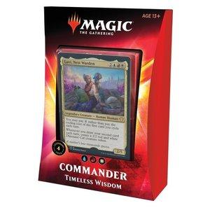Wizards of the Coast . WOC Magic the Gathering -  Ikoria: Lair of Behemoths - Timeless Wisdom Commander Deck