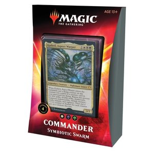 Wizards of the Coast . WOC Magic the Gathering -  Ikoria: Lair of Behemoths - Symbiotic Swarm Commander Deck