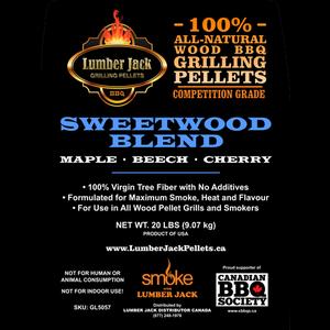 Lumber Jack Pellets . LUM Lumber Jack Sweetwood Blend Pellets - 20lb