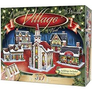 Wrebbit . WRB Christmas Village 16 panel 3D Puzzle