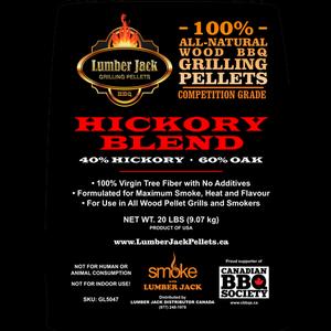 Lumber Jack Pellets . LUM Lumber Jack Hickory Blend Pellets - 20lb