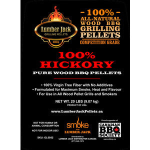 Lumber Jack Pellets . LUM Lumber Jack 100% Hickory Pellets - 20lb