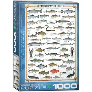 Eurographics Puzzles . EGP Freshwater Fish - 1000pc Puzzle