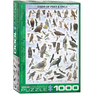 Eurographics Puzzles . EGP Birds of Prey and Owls - 1000pc Puzzle