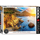 Eurographics Puzzles . EGP Sunset on the Pacific Coast - 1000pc Puzzle