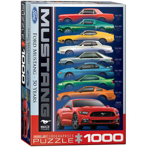 Eurographics Puzzles . EGP Ford Mustang 50 Years - 1000pc Puzzle