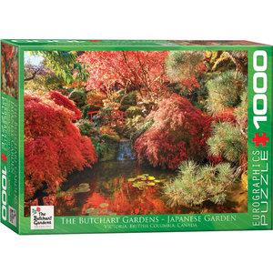 Eurographics Puzzles . EGP Butchart Japanese Gardens - 1000pc Puzzle