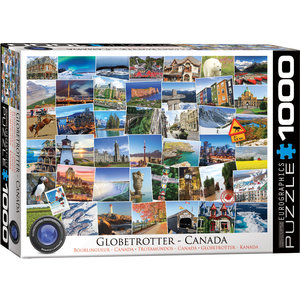 Eurographics Puzzles . EGP Globetrotter Canada - 1000pc Puzzle