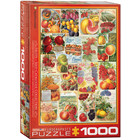 Eurographics Puzzles . EGP Fruit Seed Catalog Covers - 1000pc Puzzle