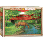 Eurographics Puzzles . EGP Sweet Water Bridge by Weirs - 1000pc Puzzle