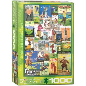 Eurographics Puzzles . EGP Golf Around the World - 1000pc Puzzle