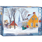 Eurographics Puzzles . EGP Winter Morning in Baie-St-Paul - 1000pc Puzzle