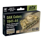 Vallejo Paints . VLJ German DAK 1941-1944 Model Air Set
