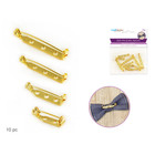 MultiCraft . MCI Bar Pin Jewel Back w/Clasp - Gold Tone 10pcs  Assorted
