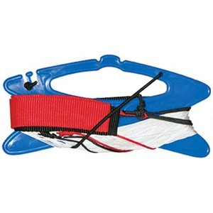 Skydogs Kites . SKK 100lb - 65' Dual Stunt Line, Dyneema on Winder w/ Straps