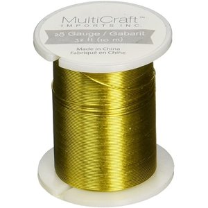 MultiCraft . MCI Beading & Jewelry Wire Gold Tone 32ft (10m)