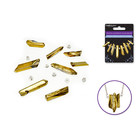 MultiCraft . MCI Crystal Elements Glass Beads - Gold