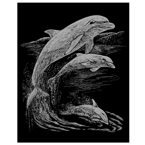 Royal (art supplies) . ROY Engrave Art Silver - Dolphins