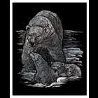 Royal (art supplies) . ROY Engrave Art Silver - Polar Bear and Cubs Nature Animals Calgary